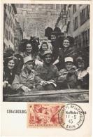 FR-CM8 - FRANCE N° 739 Libération De L´Alsace Et De La Lorraine Sur Carte Maximum - Maximum Cards