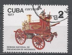 Cuba 1977. Scott #2145 (U) The Prevention Week, Horse-drawn Fire Pump * - Cuba