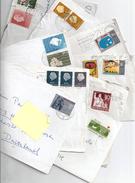 LOT 50 TIMBRES NEDERLAND -Hollande-Pays-Bas-stamps- 1960/1980 Sur Enveloppes -on Envelopes - Vrac (max 999 Timbres)