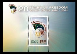 SOUTH AFRICA 2014 MINIATURE SHEET. 20 YEARS OF FREEDOM - Neufs