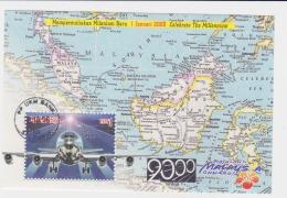 Malaysia 2000 MS Celebrate Millennium Aeroplane Flight Used - Malesia (1964-...)