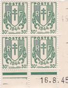 Coins Datés N° 671** (16.8.45)