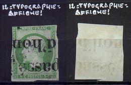 NAPOLEON N°12 Annulation Typographique Des Journeaux  Cote 90€
