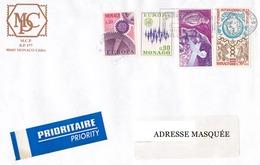 Lettre Prioritaire Voyagée De Monte Carlo Pour La Suisse Le 12/12/1996 Tp De Monaco Europa, 17ème Concour International