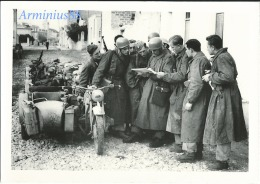 Luftwaffe - Brigade De Parachutistes - Fallschirmjäger-Brigade Ramcke Avec Side-car BMW R75 - Guerre, Militaire