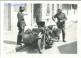 Wehrmacht - Side-car BMW R75 Avec Son équipage - Guerre, Militaire