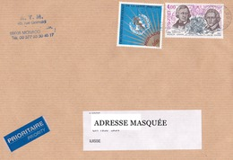 Lettre Prioritaire Voyagée De Monte Carlo Pour La Suisse Tp De Monaco Wilhelm Et Jacob Grimm, Organisation Nationnale De
