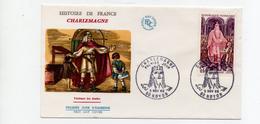 FDC France   Charlemagne 742/814  Empereur Des Français  ( YT 1497)  NOYON (60)  5/11/1966 - FDC