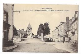 SAINT-JEAN-DES-OLLIERES  (cpa 63)   Place De L'église -    - L 1 - France