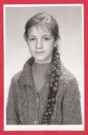 217599 / REAL PHOTO - PORTARIT YOUNG GIRL LONG HAIR , Bulgaria Bulgarie Bulgarien Bulgarije - Portraits
