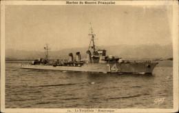 MARINE DE GUERRE - Bateaux De Guerre - TORPILLEUR - Marine Militaire - BOURRASQUE - Guerra