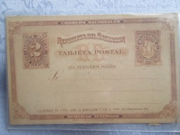 ENTIER POSTAL  . REPUBLIQUE SAN SALVADOR - Salvador
