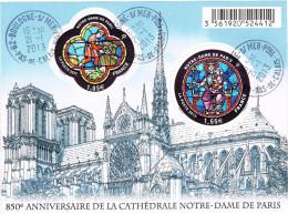 France BF F 4714 850e Anniversaire Cathédrale Notre Dame De Paris - Oblitéré 21/01/2013 - 1er Jour Vente Générale - Blocs & Feuillets