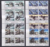 Ross Dependency 1992 Seals 6v  Bl Of 4 ** Mnh (33133) - Ross Dependency (Nieuw-Zeeland)
