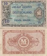 8065) 10 ZEHN MARK GERMANIA OCCUPAZIONE ALLEATA DEUTSCHLAND UMLAUF GESETZT OCCUPATION DES ALLIES EN ALLEMAGNE - [ 5] Ocupación De Los Aliados