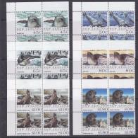 Ross Dependency 1992 Seals 6v  Bl Of 4 (corner) ** Mnh (33134) - Ross Dependency (Nieuw-Zeeland)