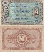 8066) 10 ZEHN MARK GERMANIA OCCUPAZIONE ALLEATA DEUTSCHLAND UMLAUF GESETZT OCCUPATION DES ALLIES EN ALLEMAGNE - [ 5] 1945-1949 : Occupation Des Alliés