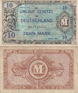 8066) 10 ZEHN MARK GERMANIA OCCUPAZIONE ALLEATA DEUTSCHLAND UMLAUF GESETZT OCCUPATION DES ALLIES EN ALLEMAGNE - [ 5] Ocupación De Los Aliados