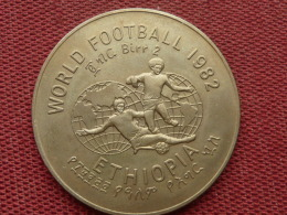 ETHIOPIE Monnaie Ou Médaille World Football 1982 Superbe état - Ethiopie