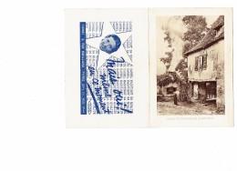 Calendrier 1943 Double Volets - Four De Campagne - Limousin -  Animation Homme Publicité Carbel Rue Maillard Paris 11ème - Calendari