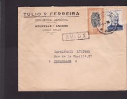 Lettre.Congo-Belge.cachet De Nouvelle Anvers.Tulio R Ferreira.
