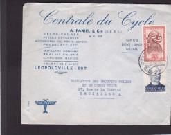 Lettre.Congo-Belge.cachet De Léopoldville.