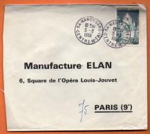 MAURY N° 1392 A   PROVINS     Lettre Entière  N° O 209 - 1961-....