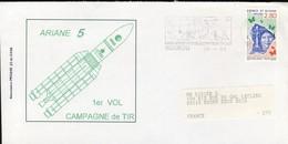 France Guyane Kourou Flamme Centre Spacial Sur Env Ariane 5   1996  (719)