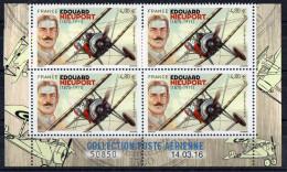 PA : Edouard NIEUPORT   X 4   ** Coin Daté Du Bloc Feuillet De 10 Avec BdF TTB