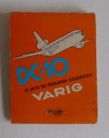 Varig Brèsil Brasil McDonnell Douglas DC-10 Boite D´ Allumettes Publicitaire Matchcover Varig Brazil - Matchboxes