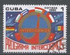 Cuba 1980. Scott #2321 (U) Intercosmos Program, Emblem, Flags * - Cuba
