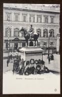 GENOVA MONUMENTO A GIUSEPPE GARIBALDI CON DEPOSITATE LE CORONE PER LA INAUGURAZIONE N.V. - Genova (Genoa)