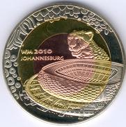Südafrika, Medaille 2 Farbig - Fußball WM 2010 In Johannesburg, PP- - Afrique Du Sud