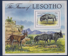 MINT BLOCK  -   ANIMALS   -  1987  -  LESOTHO  -  ** /  MNH ---
