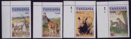 MINT STAMPS   -  ENDANGERED  WILDLIFE - 1986  -  TANZANIA  -  ** /  MNH ---