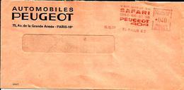 Lettre Entiere  EMA Voiture Vainqueur Safari  Peugeot 404 Sport  B/895 - Voitures