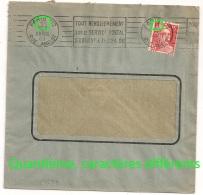 Quantièmes Différents, PARIS 112 RUE AMELOT Sur Enveloppe GANDON. 1949. - Postmark Collection (Covers)