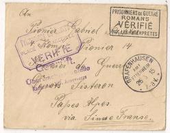 Pour SISTERON Basses Alpes Prisonnier De Guerre Allemand, VERIFIE MARSEILLE Et ROMANS. GRAFENHAUSEN - Marcophilie (Lettres)