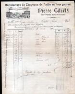 82, SEPTFONDS, PIERRE CALVIN, MANUFACTURE DE CHAPEAUX DE PAILLE, 1910 - France