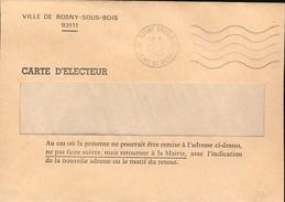 France : Enveloppe Envoi Carte Electeur, Présidentielle De 1995 Chirac (733) - Famous People