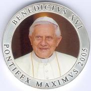 Vatican, Benedikt XVI.  Medaille In Farbe, 2005 - Vatican