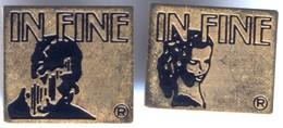 Lot De 2 Pin´s Doré - Parfum IN FINE ® - Profumi