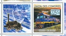 16/11 (vert) Comores Timbre XX Train Trein Le Indian Pacific