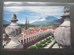 AK Guatemala 1960 Palace Of Capitanes Generales. Antigua. Transatlantic Air Mail - Guatemala