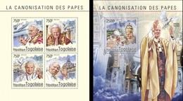 Togo 2014, Canonization Of J. Paul II And John XXIII, 4val In BF +BF