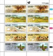 South Africa - 1995 Tourism Std Mail Sheet (**) # SG 868a , Mi 962A-966A