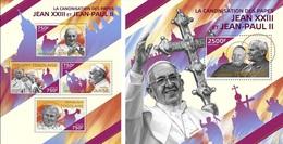 Togo 2014, Canonization Of J.Paul II And John XXIII, 4val In BF +BF