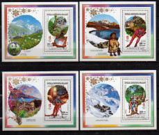 Olympische Spelen  1992 , Madagascar - Reeks Deluxe Met Opdruk Postfris