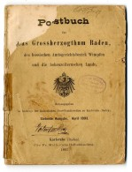 Postbuch Für Das Grossherzogthum Baden, Den Hessischen Amtsgerichtsbezirk Wimpfen Und Dem Hohenzollernschen...