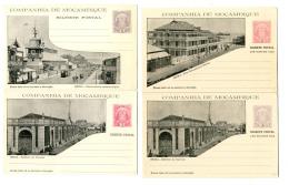 1904, 4 Verschiedene Ungerauchte Bildganzsachenkarten 10 Und 20 R, Dabei 2 Doppelkarten, Pracht.